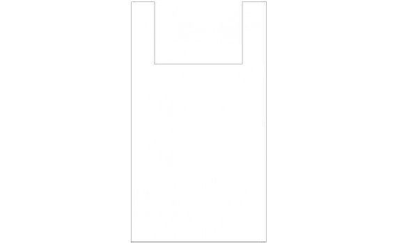 "Пакет ПЭ типа ""майка"" 25+12x45 (9) (Белая)"