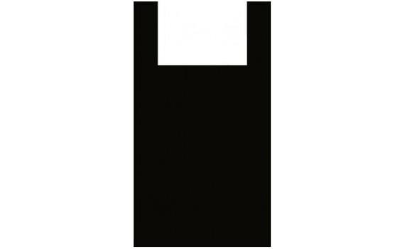 """Пакет ПЭ типа """"майка"""" 25+12х45 (9) (Черная)"""