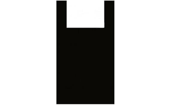 """Пакет ПЭ типа """"майка"""" 28+16х50 (12) (Черная)"""