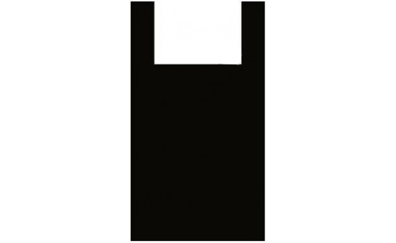 "Пакет ПЭ типа ""майка"" 38+23x70 (13) (Черная)"