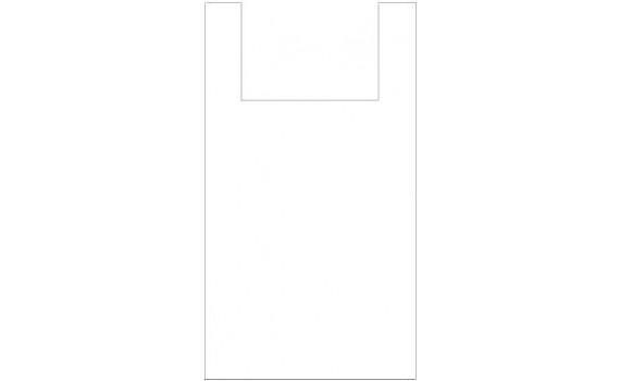 "Пакет ПЭ типа ""майка"" 30+16x60 (15) Люкс (Белая)"