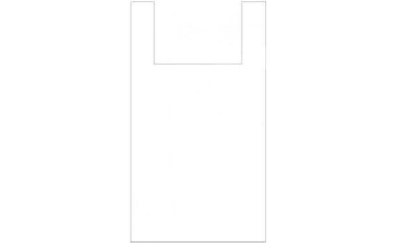"Пакет ПЭ типа ""майка"" 30+16x60 (13) (Белая)"