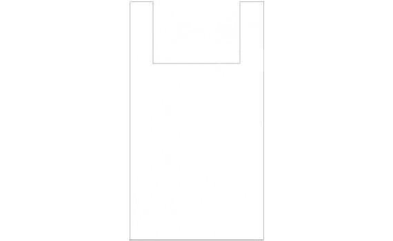 "Пакет ПЭ типа ""майка"" 38+23x70 (13) (Белая)"