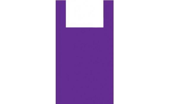 """Пакет ПЭ типа """"майка"""" 45+30х75 (15) (Фиолетовая)"""