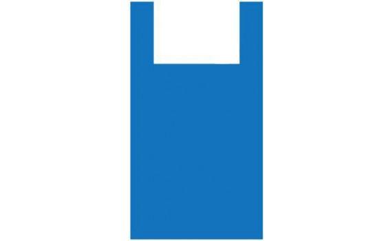 "Пакет ПЭ типа ""майка"" 45+30х75 (15) (Синяя)"