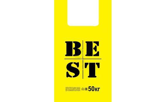"Пакет ПЭ типа ""майка"" 31+17х55 (30) х1000 (Best желтая)"