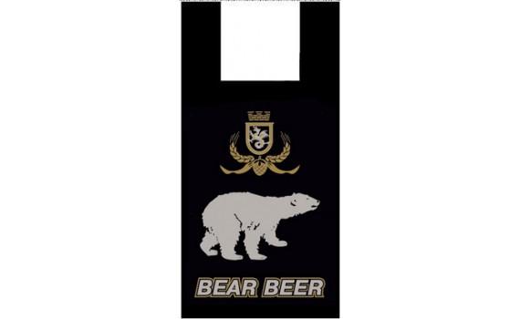 """Пакет ПЭ типа """"майка"""" 30+16x55 (15) """"Медведь"""""""