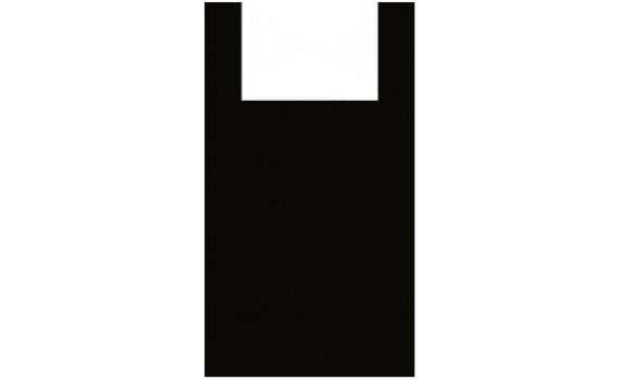 """Пакет ПЭ типа """"майка"""" 45+30х75 (25) (Черная Люкс)"""