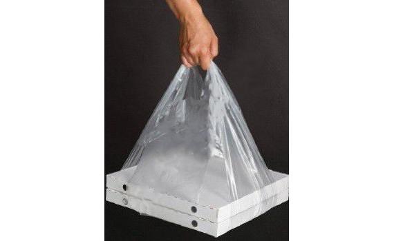 """Пакет ПЭ типа """"майка"""" 32+24х60 (14) для переноски коробок, прозрачный (х1000)"""