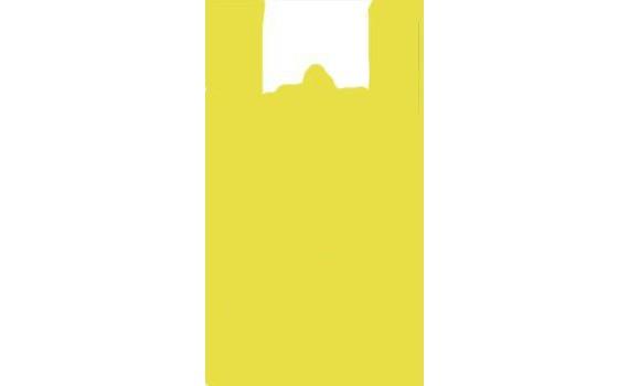 """Пакет ПЭ типа """"майка"""" 25+12х45 (11) ЭКСТРА (желтая)"""