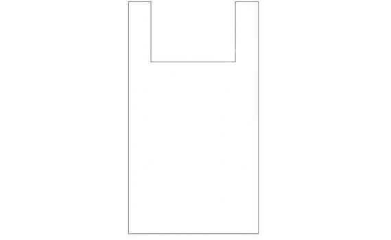 "Пакет ПЭ типа ""майка"" 30+16x60 (20) (белая)"