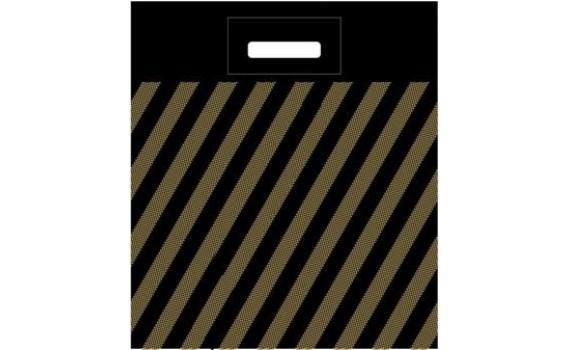 Пакет ПЭ с вырубной ручкой 40х50+4 (50) (Полоса рейтер)