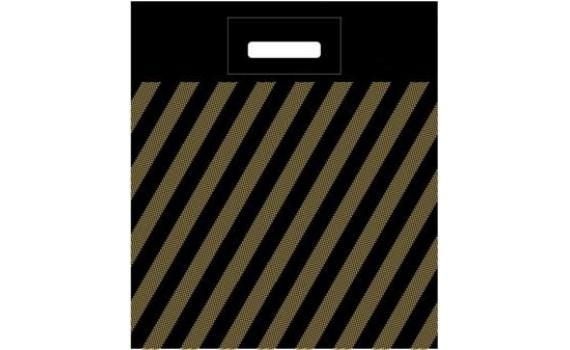Пакет ПЭ с вырубной ручкой 40х50+4 (50) (Полоса)