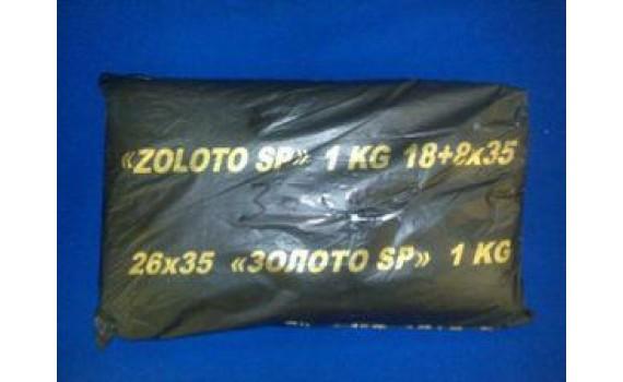 Пакет фасовочный, ПНД 18+8х35 (9) В пластах SuperPak (Золото 1КГ) (арт 90067)