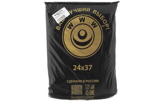 Пакет фасовочный, ПНД 24х37 (10) в пластах WWW черная (арт 10050)
