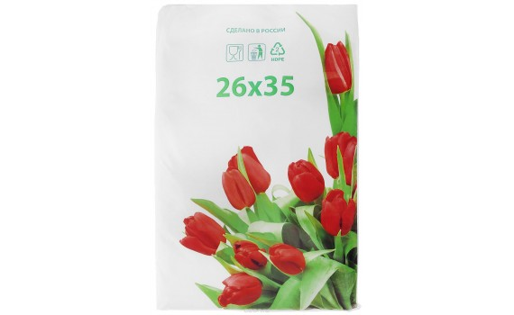 Пакет фасовочный, ПНД 26х35 (12) В пластах Тюльпаны фото (арт 12050)