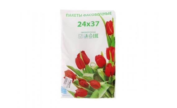 Пакет фасовочный, ПНД 24x37 (12) В пластах Тюльпаны фото (арт 12050)
