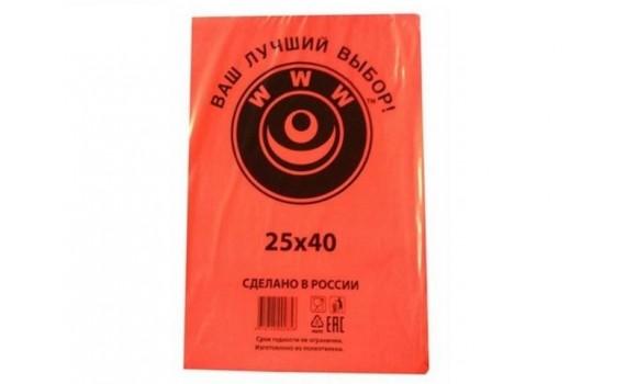Пакет фасовочный, ПНД 25x40 (7) В пластах WWW красная