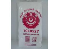 Пакет фасовочный, ПНД 10+8х27 (8) В пластах WWW бело-красная