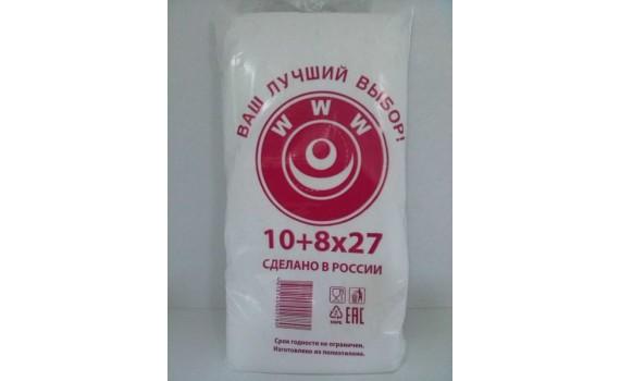 Пакет фасовочный, ПНД 10+8х27 (8) В пластах WWW бело-красная (арт80050)