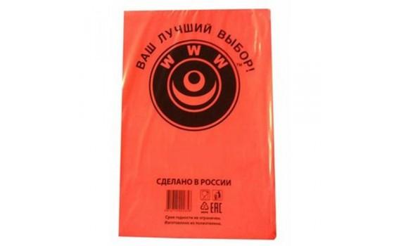 Пакет фасовочный, ПНД 14+8x26 (7) В пластах WWW красная (арт 70044)