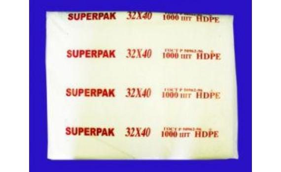 Пакет фасовочный, ПНД 32x40 (8) В пластах SuperPak красная (арт 80080)