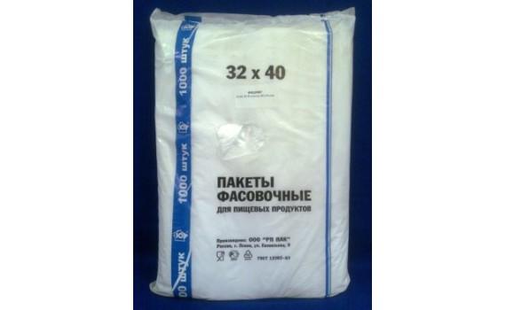 Пакет фасовочный, ПНД 32х40 (7) В пластах (Ю арт 70100)