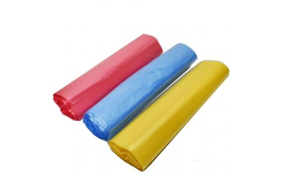 Пакет фасовочный, ПНД 24х37 (10) 5 рулончиков (арт 10085 желтые)