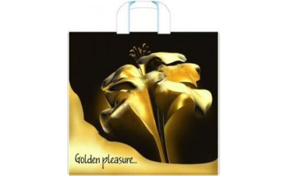 Пакет ПЭ с петлевой ручкой 40х36+8 (70) (Золотой цветок)