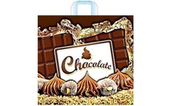 Пакет ПЭ с петлевой ручкой 40х36+8 (70) (Шоколад)