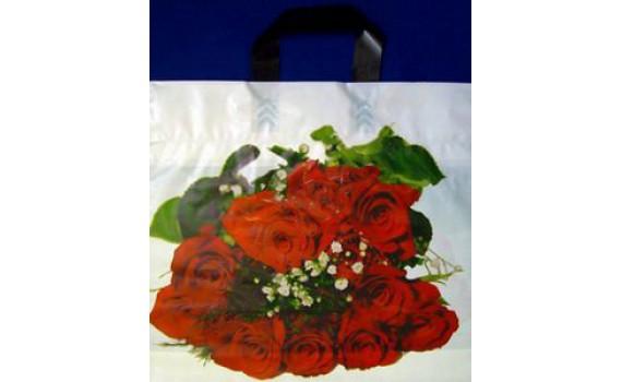 """Пакет ПЭ с петлевой ручкой 40х36+7 (70) (""""Букет роз"""")"""