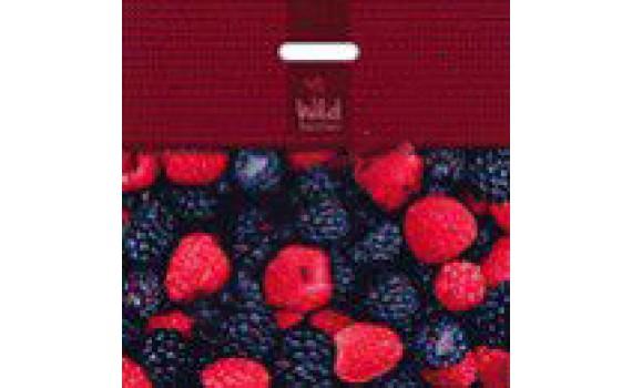 Пакет ПЭ с вырубной ручкой 44х44+6 (70) (Лесные ягоды)
