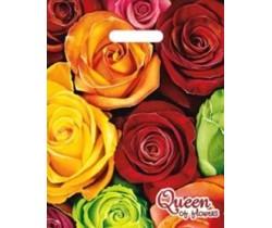 Пакет ПЭ с вырубной ручкой 30х40 (35) (Королева цветов)