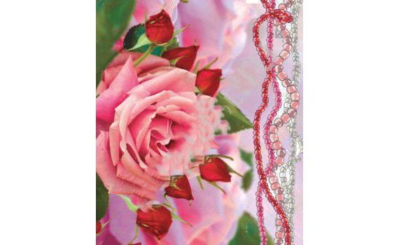 Пакет с вырубной неусиленной ручкой 20х30 (35) (Розовые бусы)