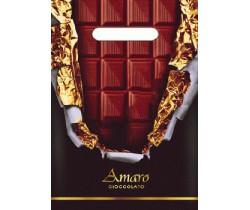 Пакет с вырубной неусиленной ручкой 20х30 (30) (Горький шоколад)