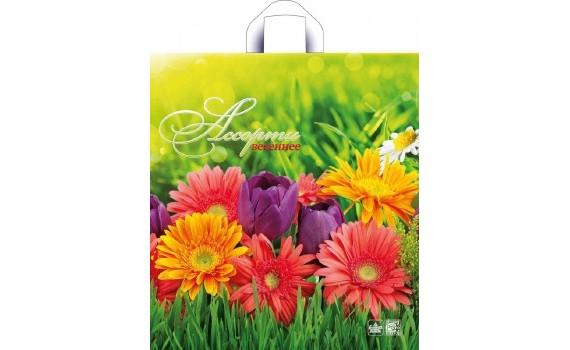 Пакет ПЭ с петлевой ручкой 38х35+6 (85) Элит Глянец (Яркое солнце)