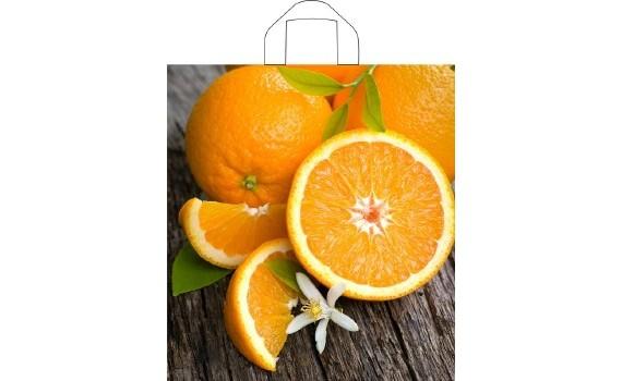 Пакет ПЭ с петлевой ручкой 40x44+6 (35) (Свежий апельсин)