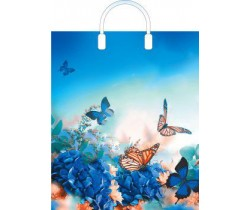 Пакет ПЭ с пластмассовыми ручками 38x45+3 (100) (Бархатные бабочки)