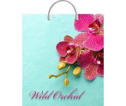 Пакет ПЭ с пластмассовыми ручками 40х44х+5 (100) (Розовая орхидея)