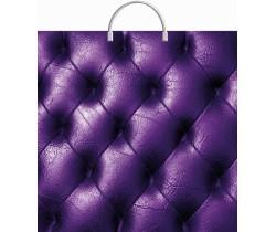 Пакет ПЭ с пластмассовыми ручками 36х37+10 (Фиолетовая кожа)