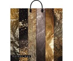 Пакет ПЭ с пластмассовыми ручками 40х44+10 (100) ламинация (Золотой век)