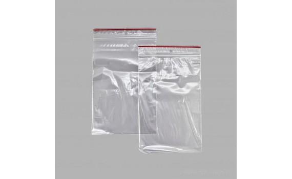 Пакет Zip Lock 8х18 35 мкм (с красной полосой)