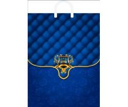 Пакет ПЭ с пластмассовыми ручками 31х40 (70) глянец (Синий портфель)
